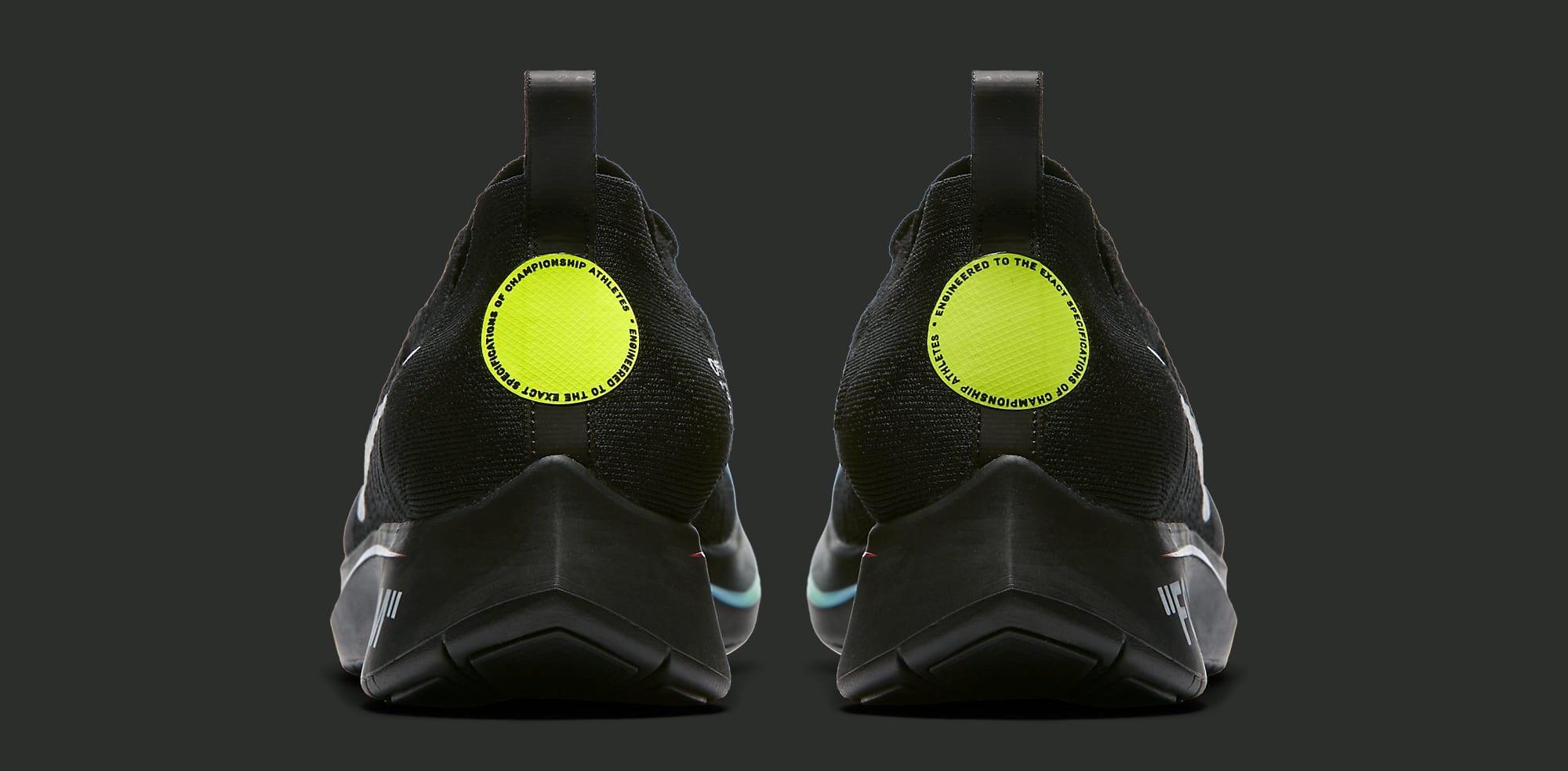 Off-White x Nike Zoom Fly Mercurial Flyknit 'Black' AO2115-001 (Heel)