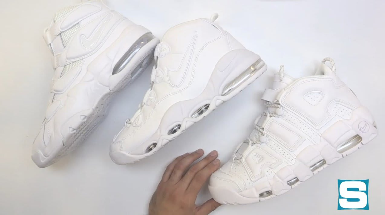 d0e35c100e7d Nike Air Max Uptempo Triple White Collection Unboxing
