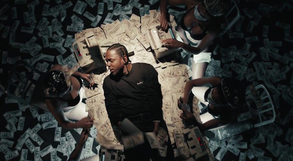 Kendrick Lamar wearing Second/Layer black long sleeve tee in