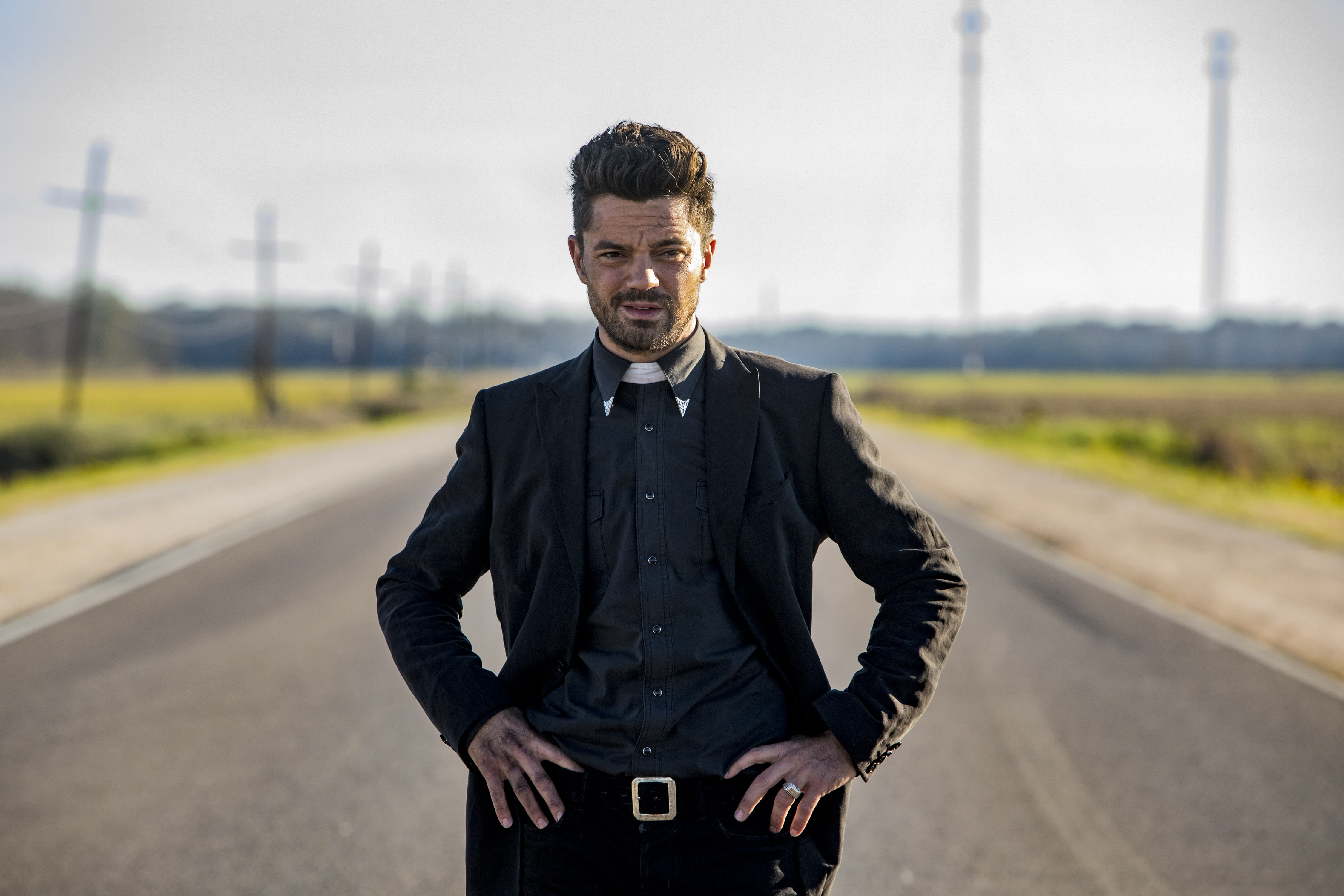 Dominic Cooper as Jesse on 'Preacher' season 2