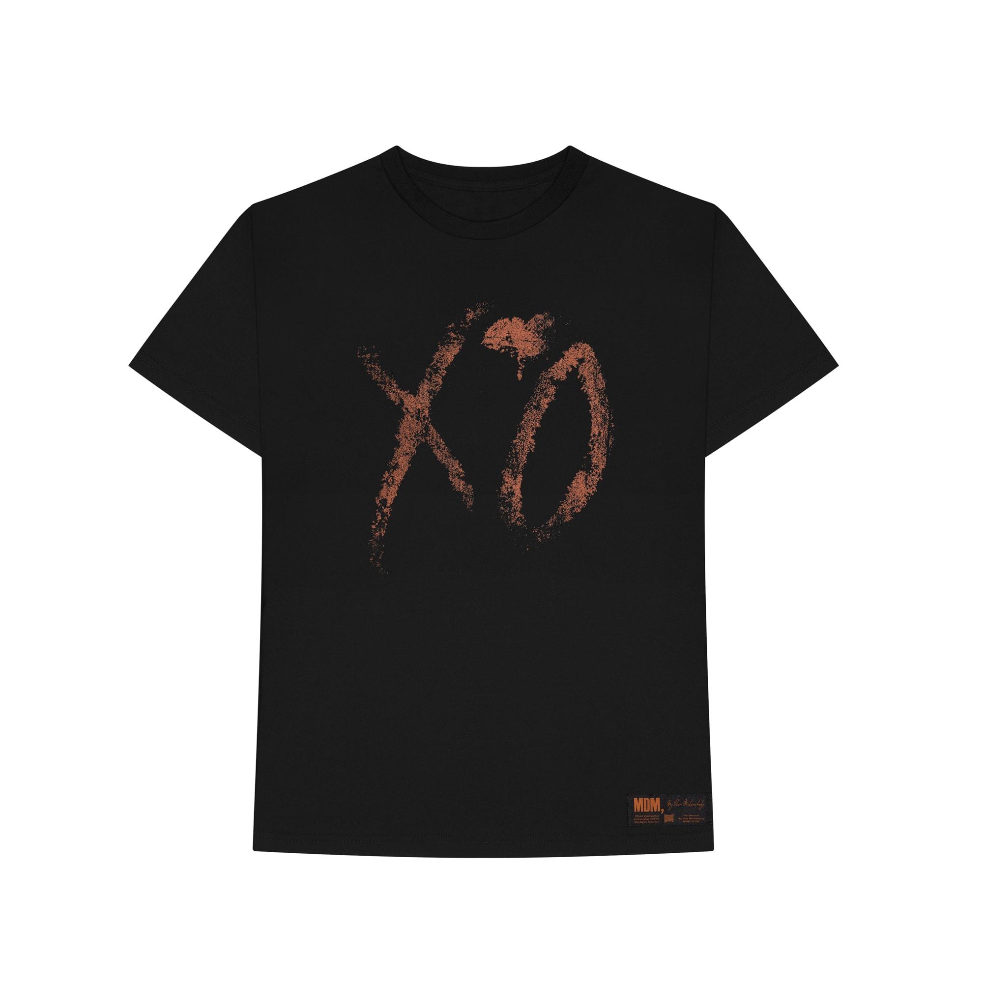 The Weeknd's 'My Dear Melancholy' logo t-shirt.