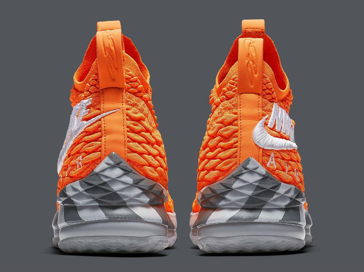 d6033baf13ef ... Nike LeBron 15 Orange Box Release Date AR5125-800 Heel .
