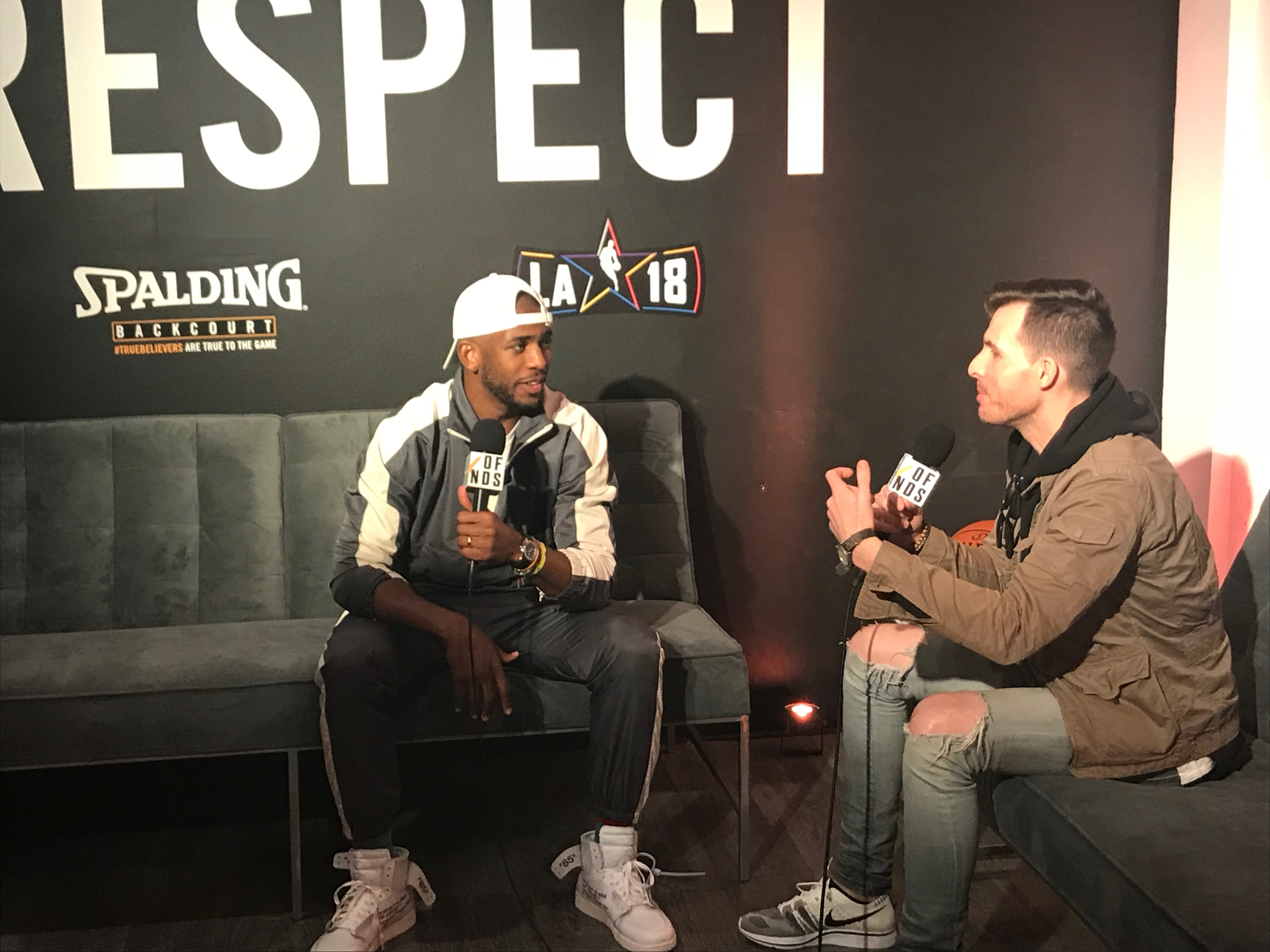 Chris Paul Spalding Backcourt 2018 NBA All-Star