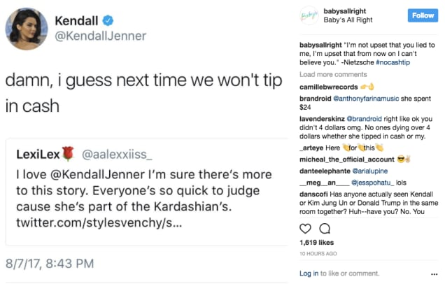 babys all right kendall jenner