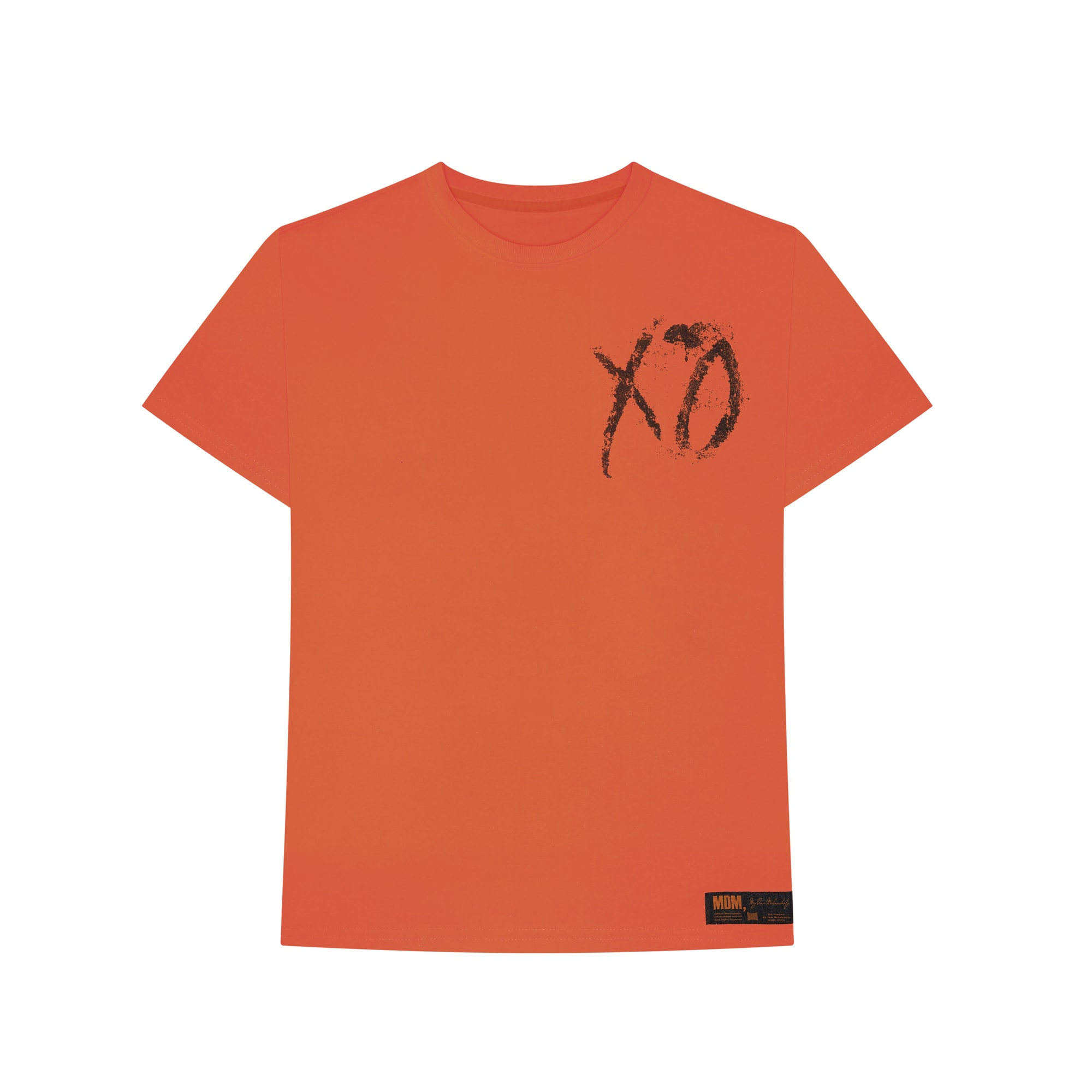 """The Weeknd's 'My Dear Melancholy' """"Never There"""" t-shirt front."""