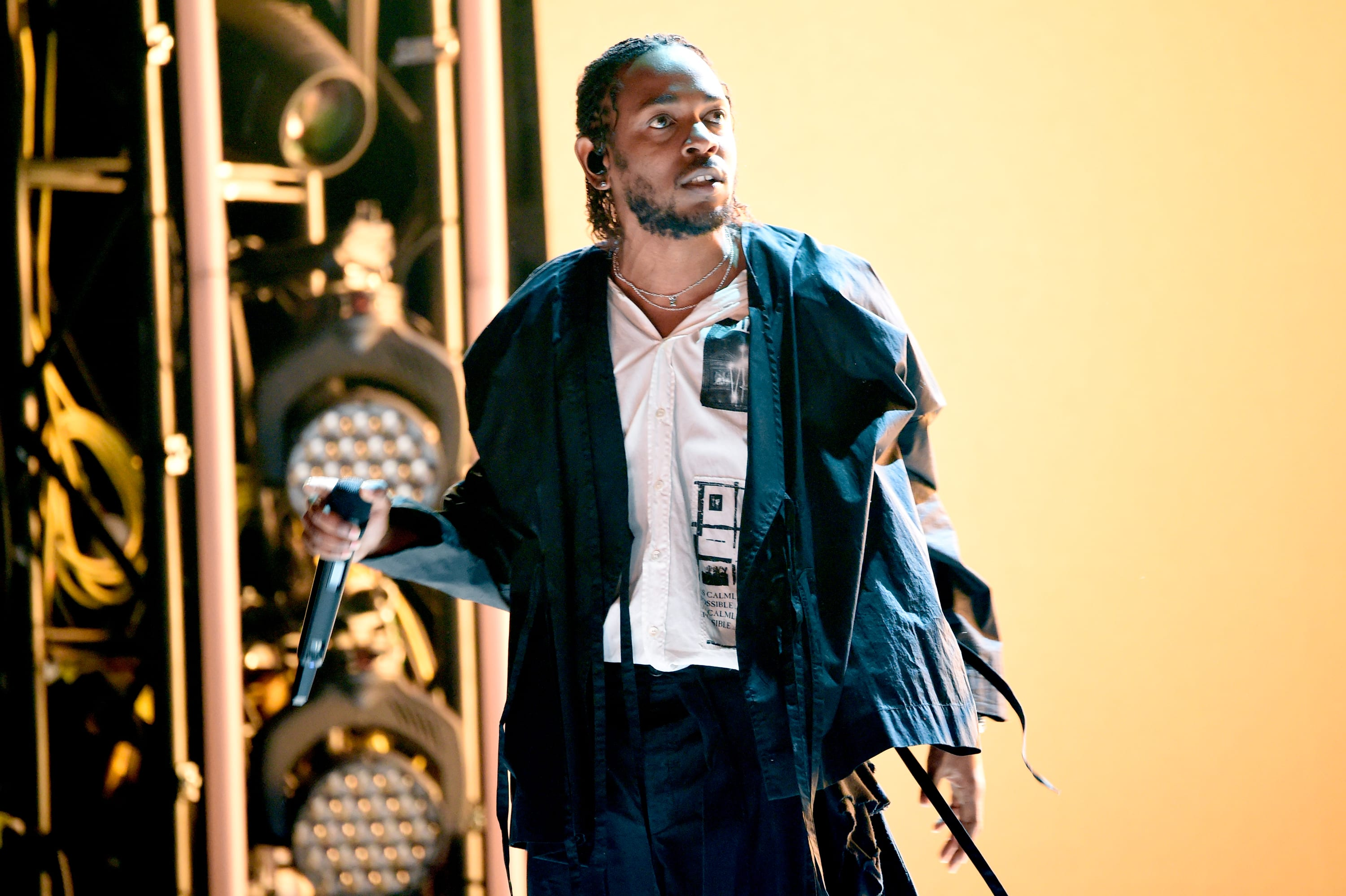 Kendrick Lamar performs onstage during the 60th Annual GRAMMY Awards