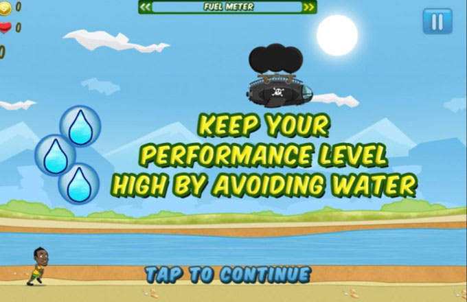 A stillshot of Gatorade's mobile game 'Bolt!'