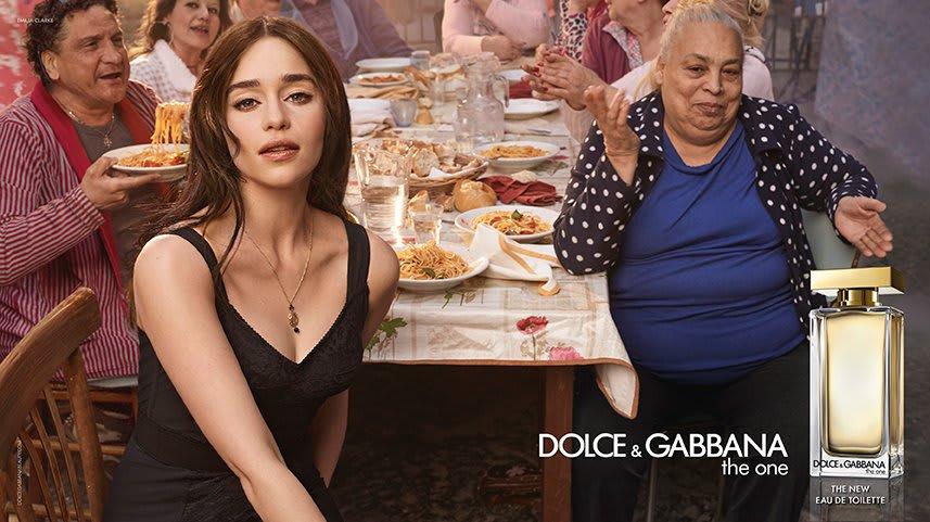 emilia clarke dolce & gabbana ad