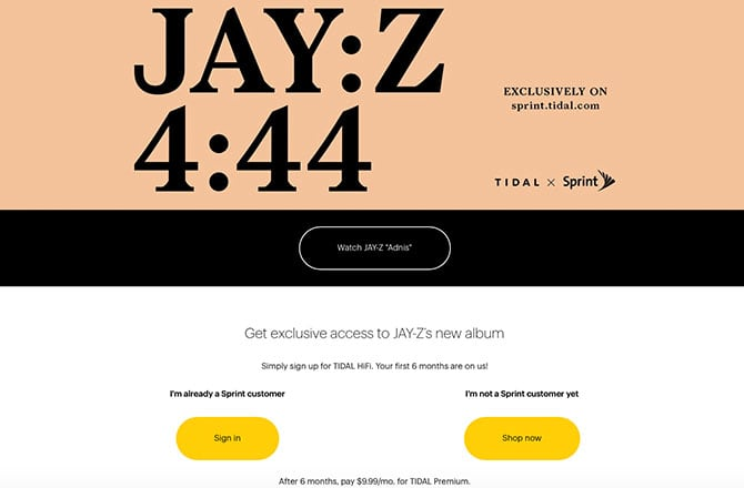 New Jay Z Album Drops June 30, Sprint & TIDAL Exclusive