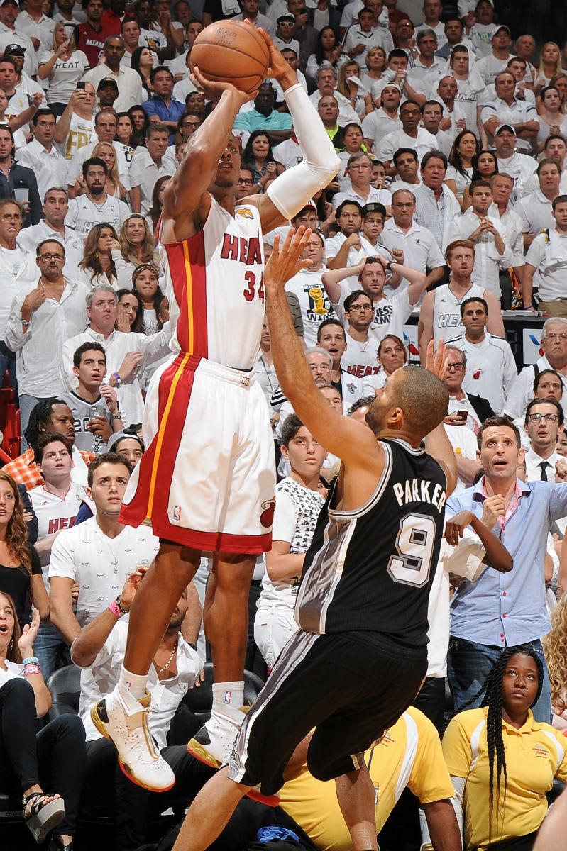 Ray Allen Game6 Shot 2013 NBA Finals Air Jordan 28 PE