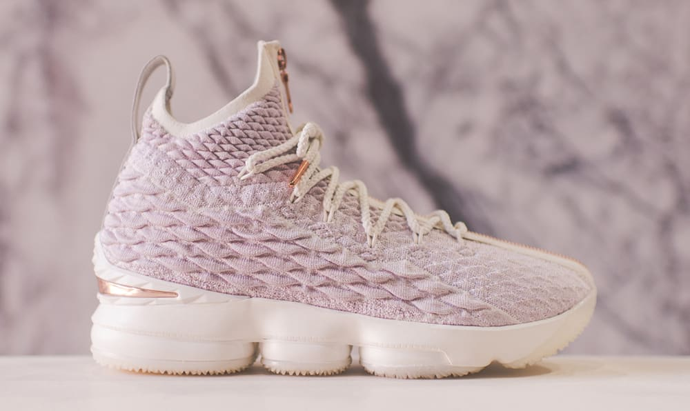 promo code 82fa7 2895f It features a faint pink Battleknit upper, cream accents, matted air bags,  and a rose gold Nike Swoosh on the ...