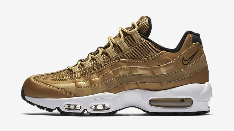 fcc77fbb67 ... 97 SE · Nike Air Max 95 Metallic Gold Release Date 884421 700: Nike  Gold Air Max Collection ...
