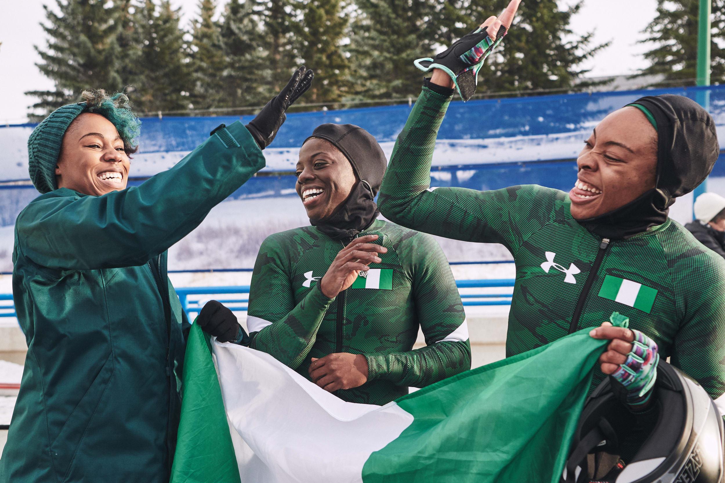 Nigerian Women's Bobsled Team training