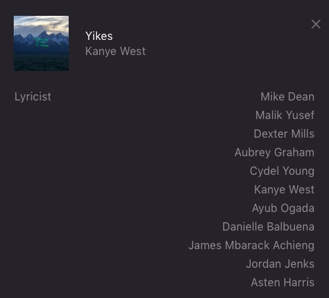 "Drake Credited as Co-Writer on Kanye's ye Song ""Yikes"""