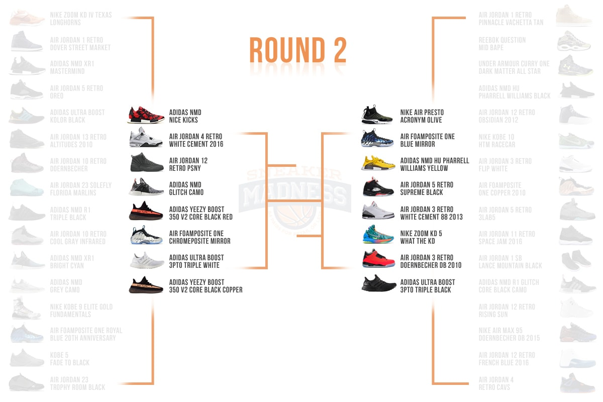 Complex Sneakers x StockX Sneaker Madness Round 2 Bracket
