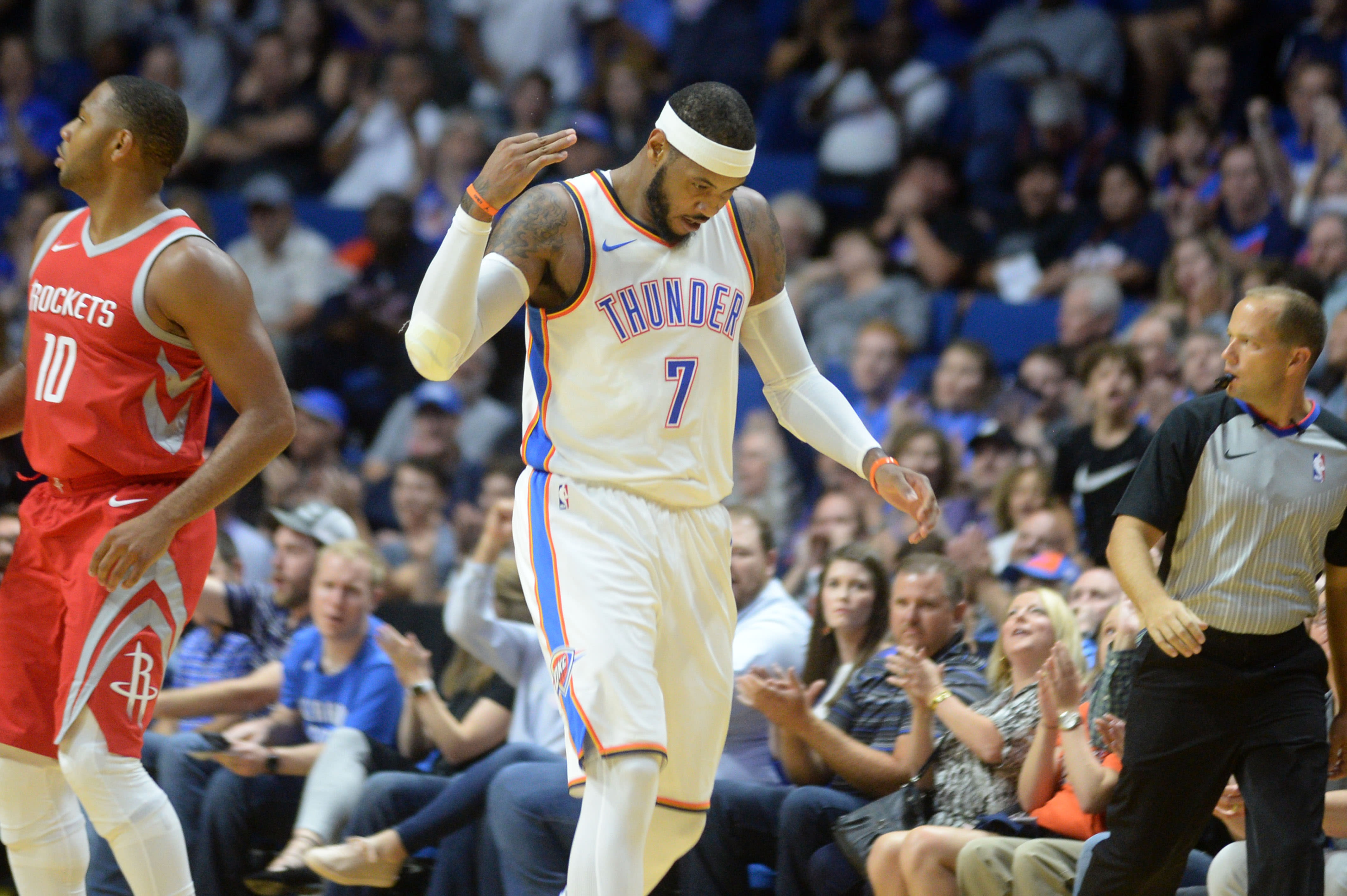 Carmelo Anthony Oklahoma City Houston Preseason 2017