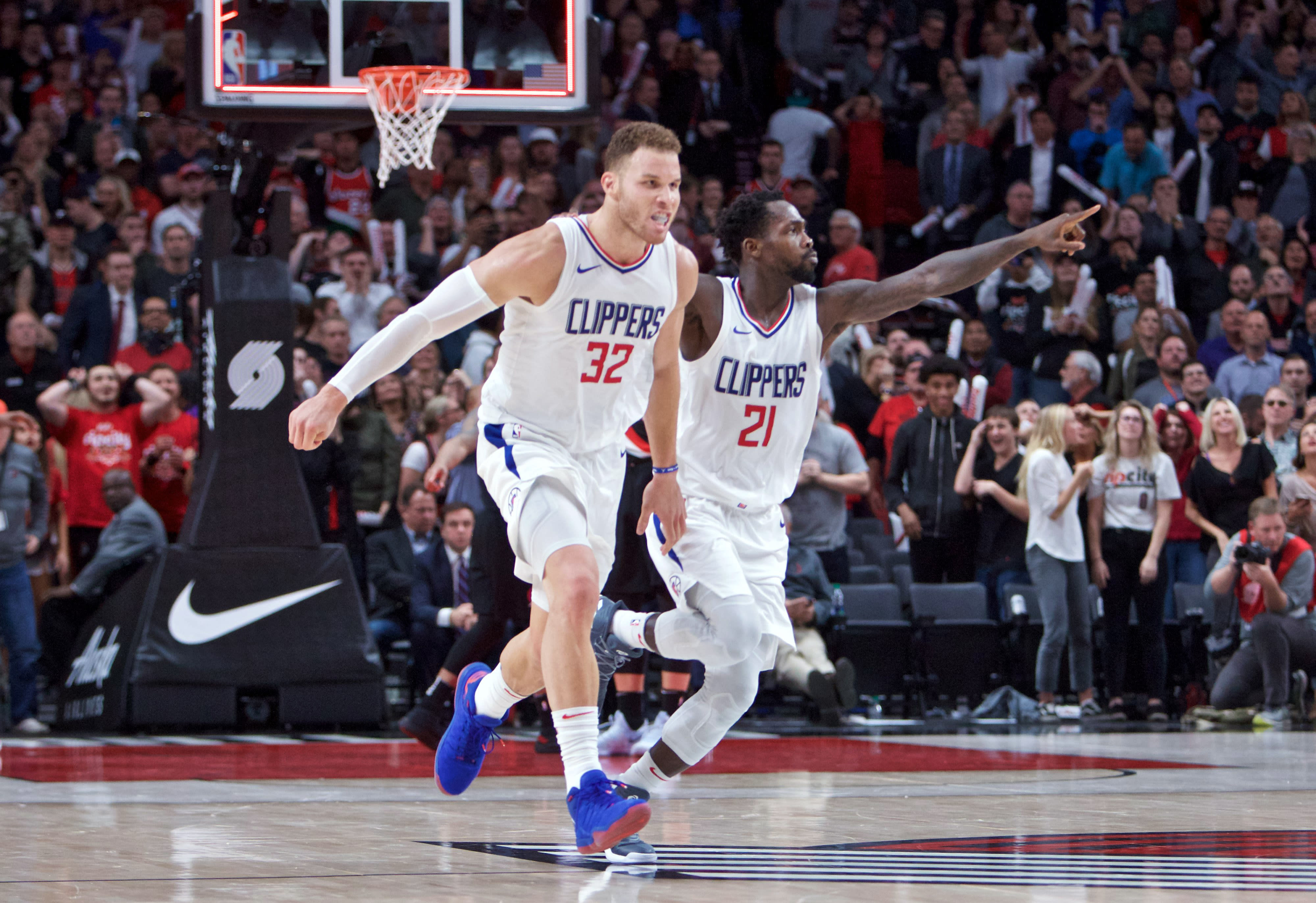Blake Griffin Clippers Blazers 2017