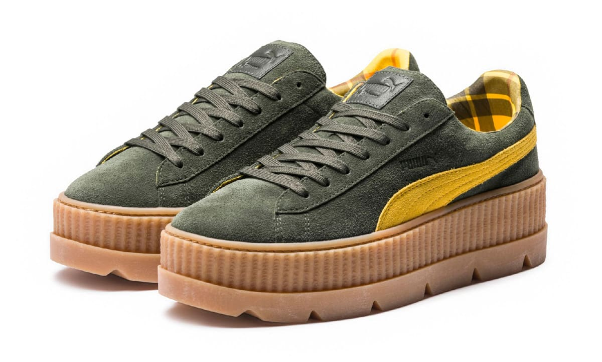 fenty x puma cleated creeper sneaker releases 8 30 17. Black Bedroom Furniture Sets. Home Design Ideas