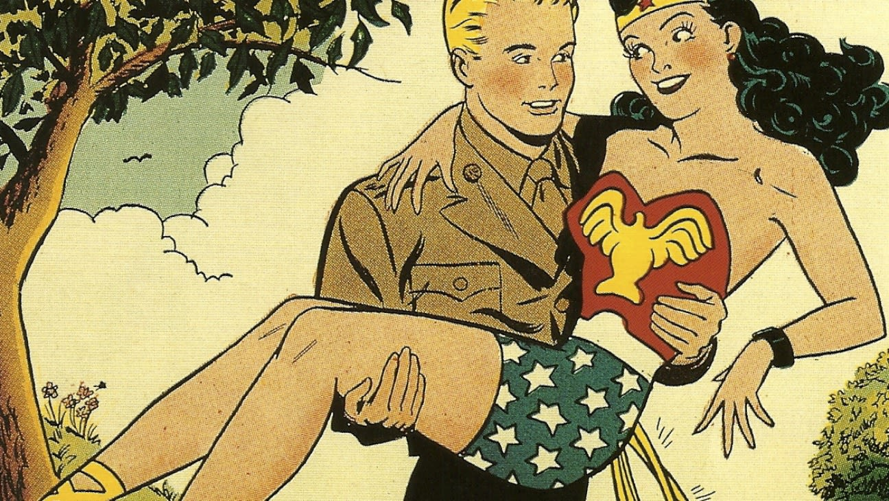 Captain Steve Trevor and Wonder Woman