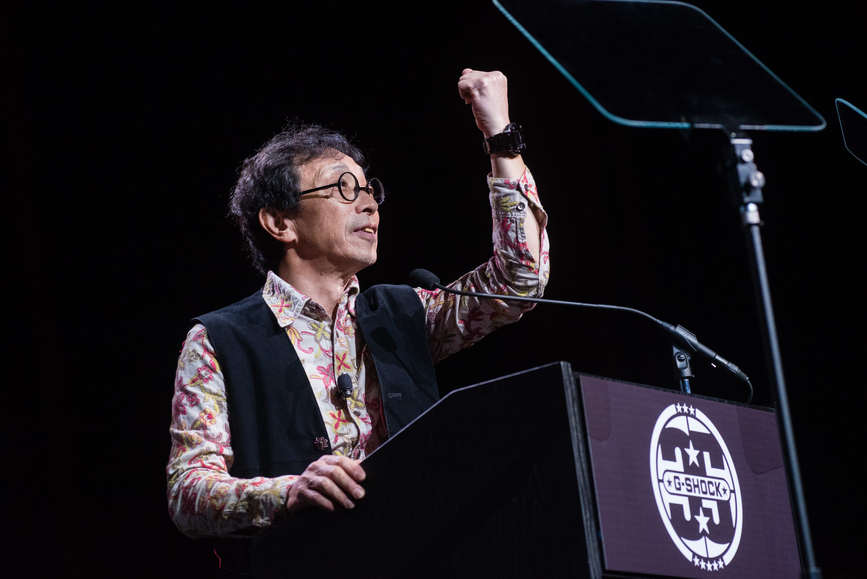 G-SHOCK 35th Anniversary Press Conference_Kikuo Ibe_Crystal Watch_Photo Credit_ Ryan Muir