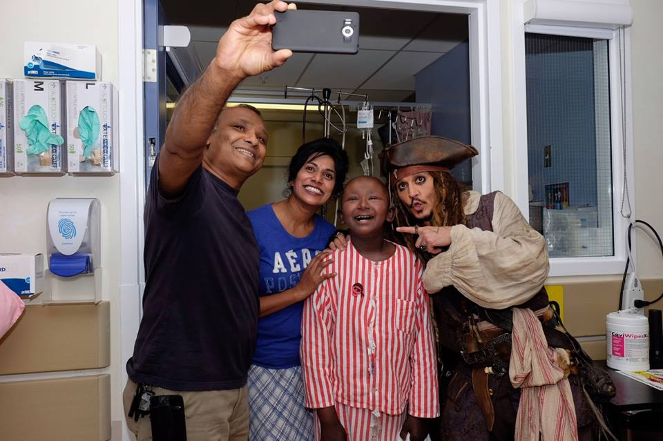 johnny depp jack sparrow hospital