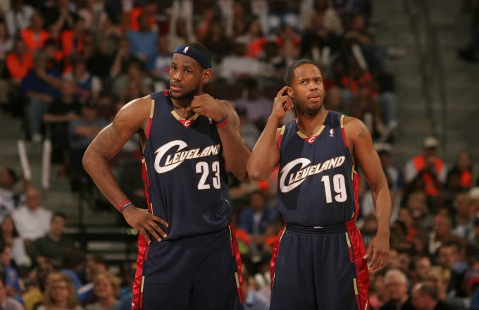 LeBron James reacts to a call during a 2006 playoff game against the Pistons.