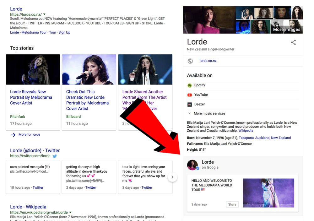 Google is letting musicians post Twitter-like updates directly in search results