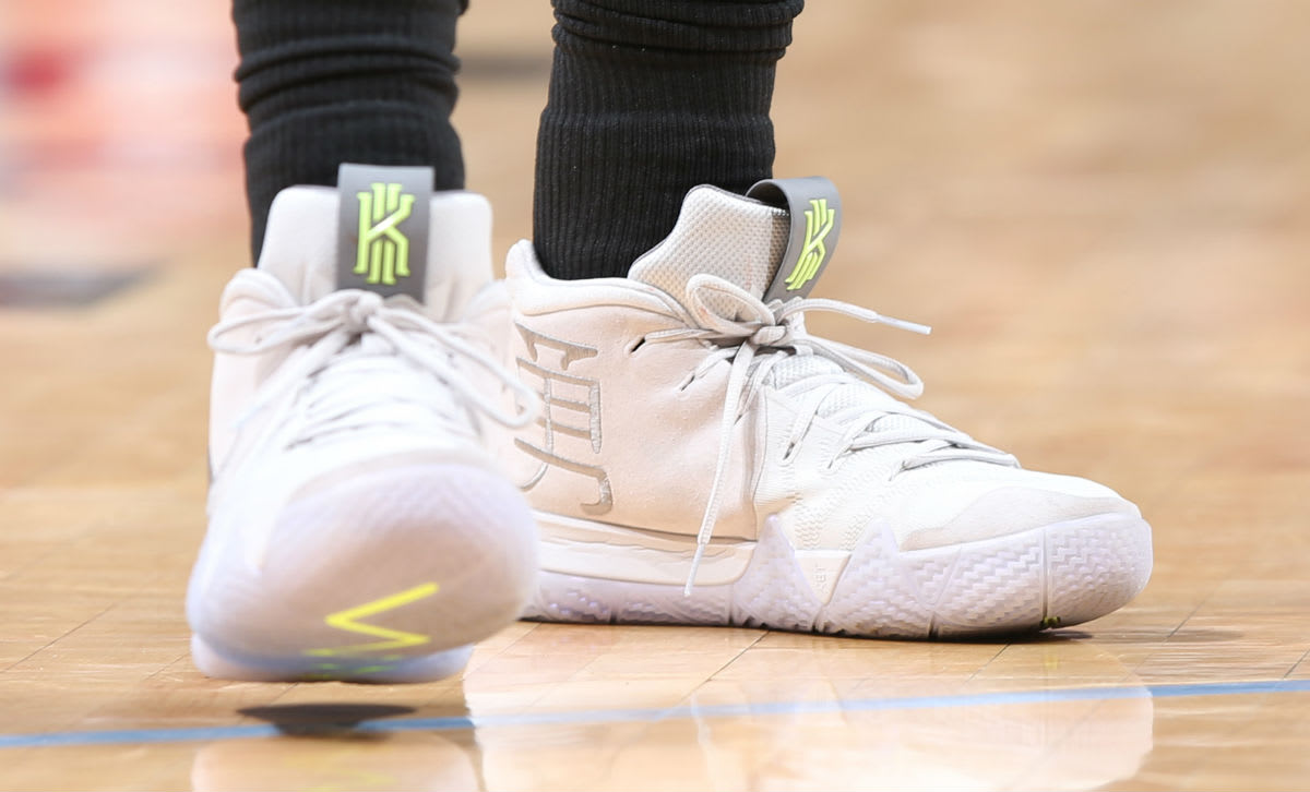 new arrival 4e460 03ee6 ... discount code for kyrie irving nike kyrie 4 white on foot 4c02c f6aff
