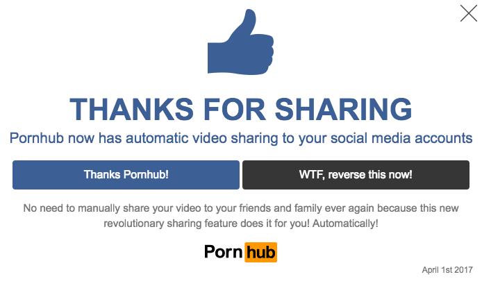 pornhub april fools
