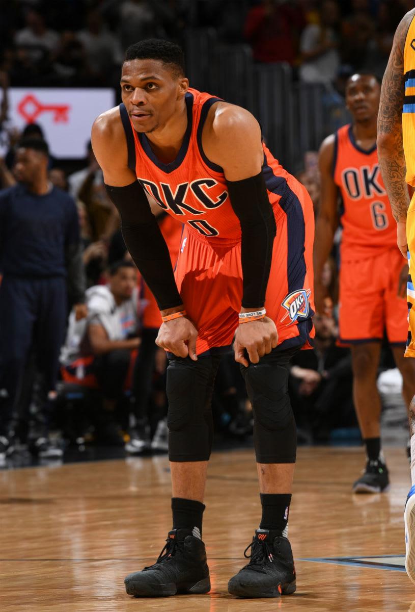 Russell Westbrook Breaks the Triple-Double Record in Air Jordan 31 PE