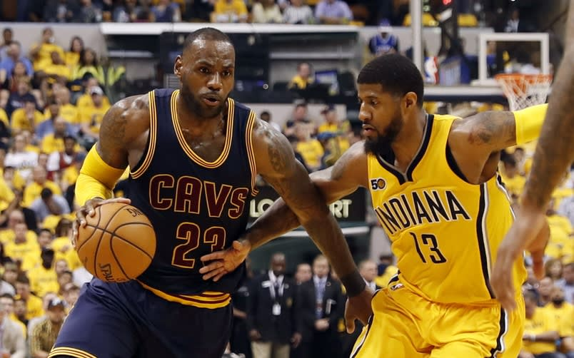 Lebron James Paul George 2017 Playoffs