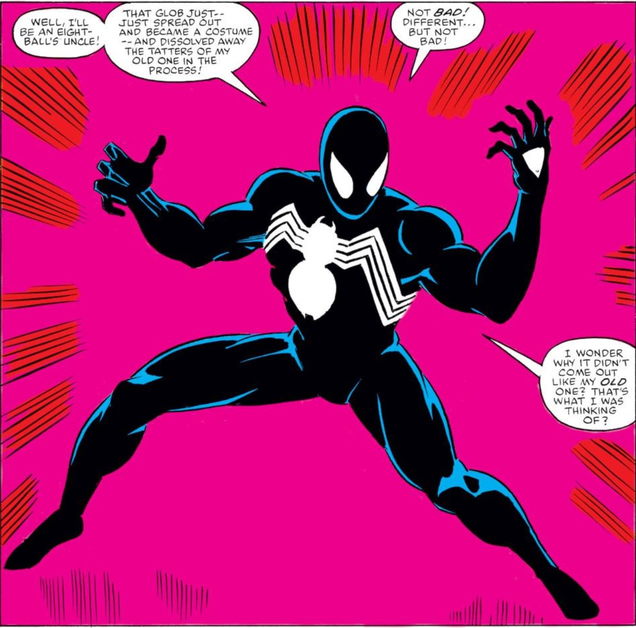 Spider-Man in the black suit/symbiote