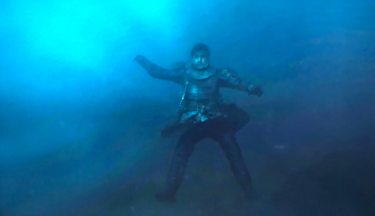 jamie lannister drowning on game of thrones