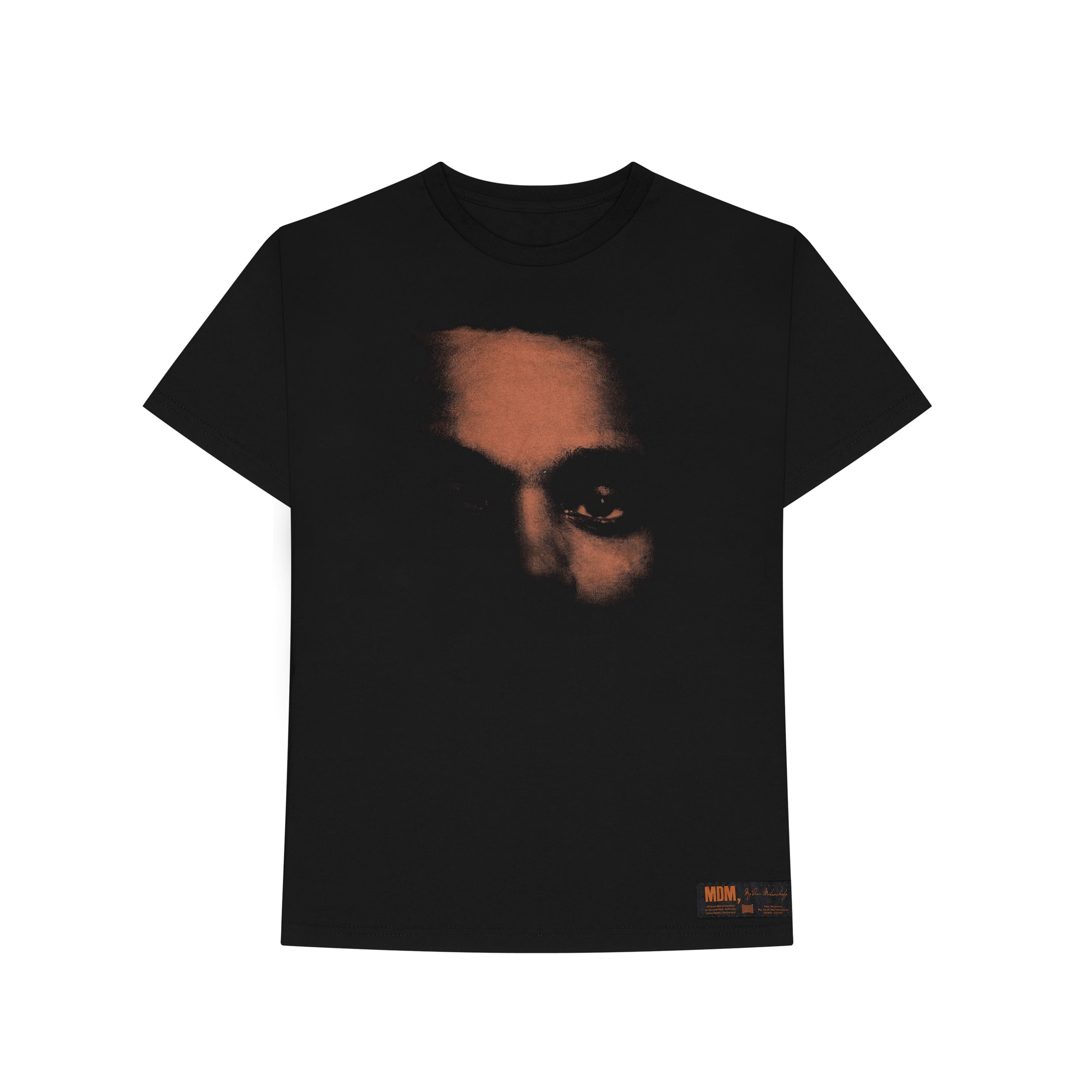 The Weeknd's 'My Dear Melancholy' cover t-shirt.