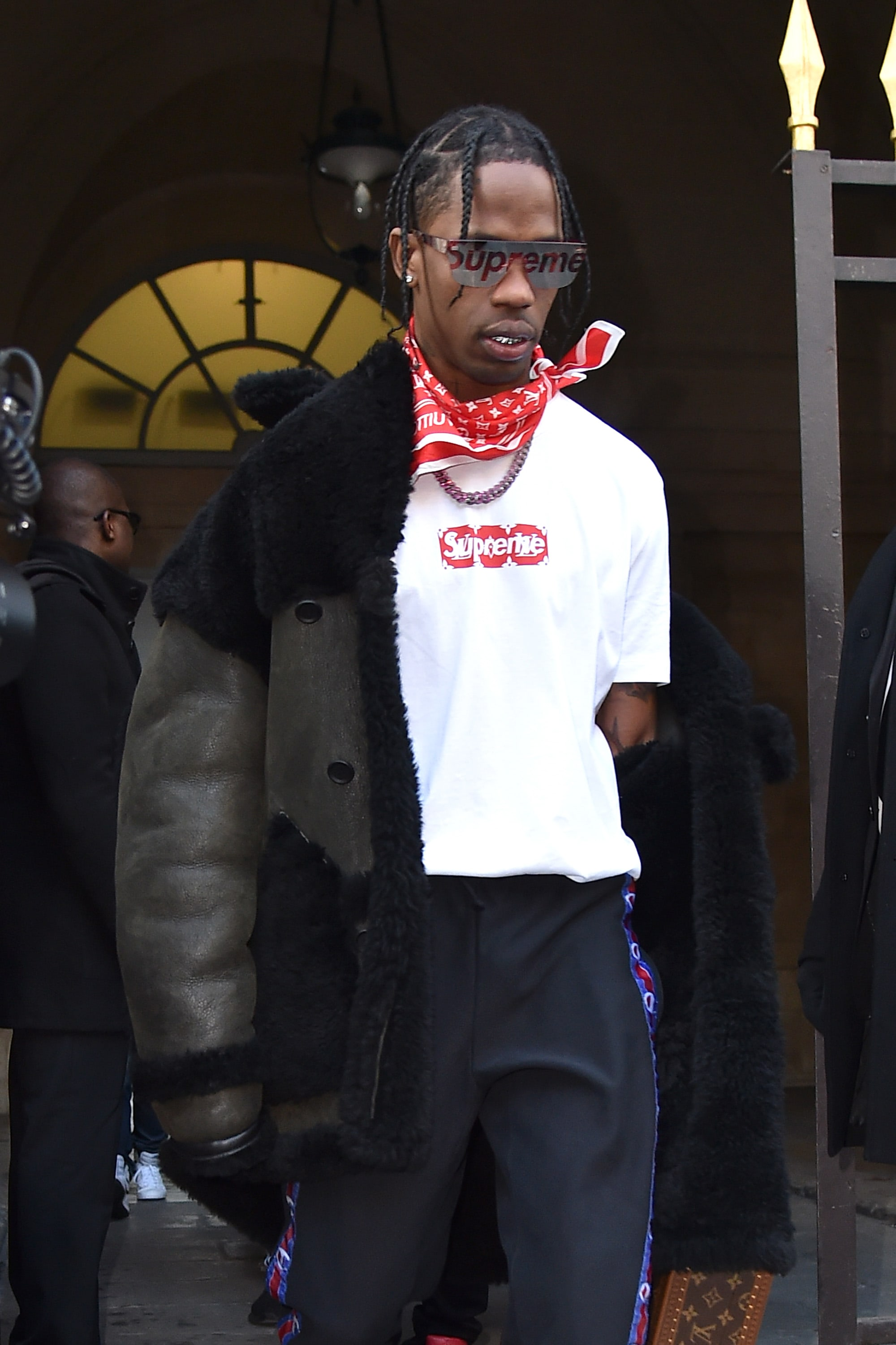Travis Scott in Supreme x Louis Vuitton