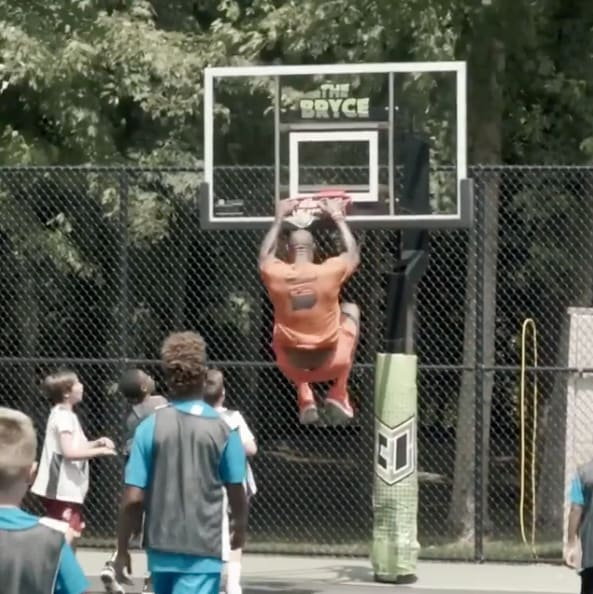 lebron james dunking on children again
