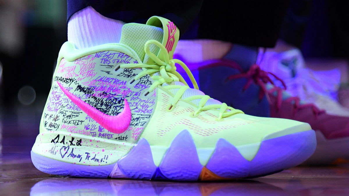 c377efcf8076 ... shop sweden kyrie irving debuts nike kyrie 4 confetti right 019ce c89ea  5f8ae 4f304
