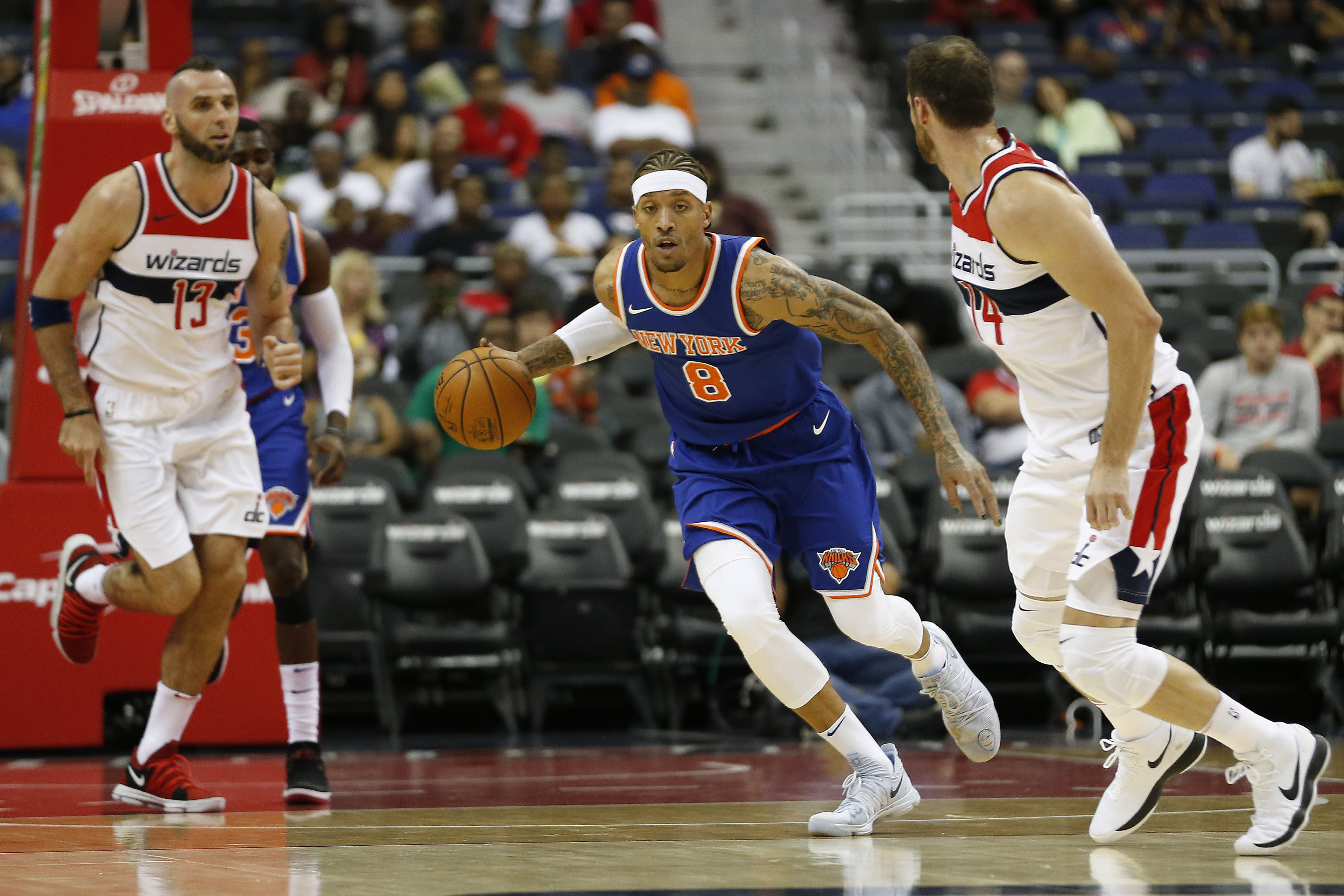 Michael Beasley Knicks Wizards Preseason 2017