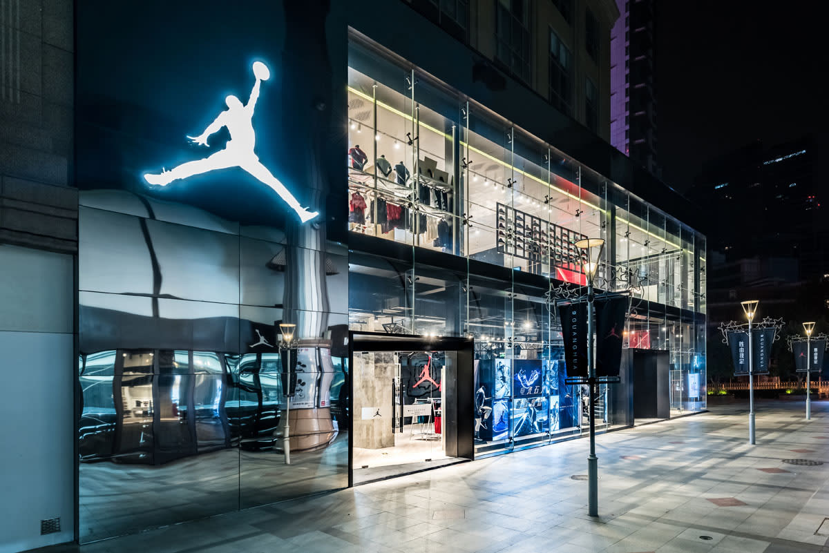 Inside the jordan 9 guanghua store in china sole collector for Nike jordan shop