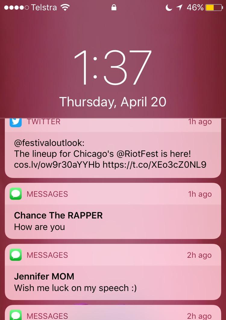 Chance text