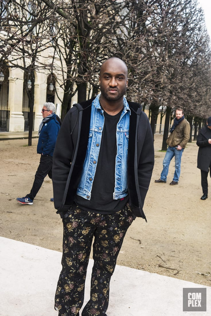 Virgil Abloh at Louis Vuitton Fall/Winter 2018 show