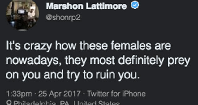Ohio State cornerback Marshon Lattimore tweets about sexual assault incident.