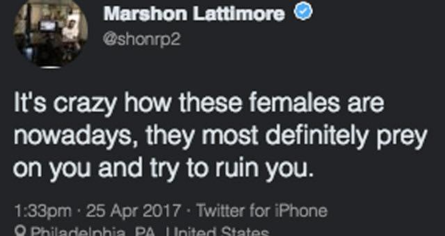 Ohio State cornerback Marshon Lattimore tweets about sexual assault incident.
