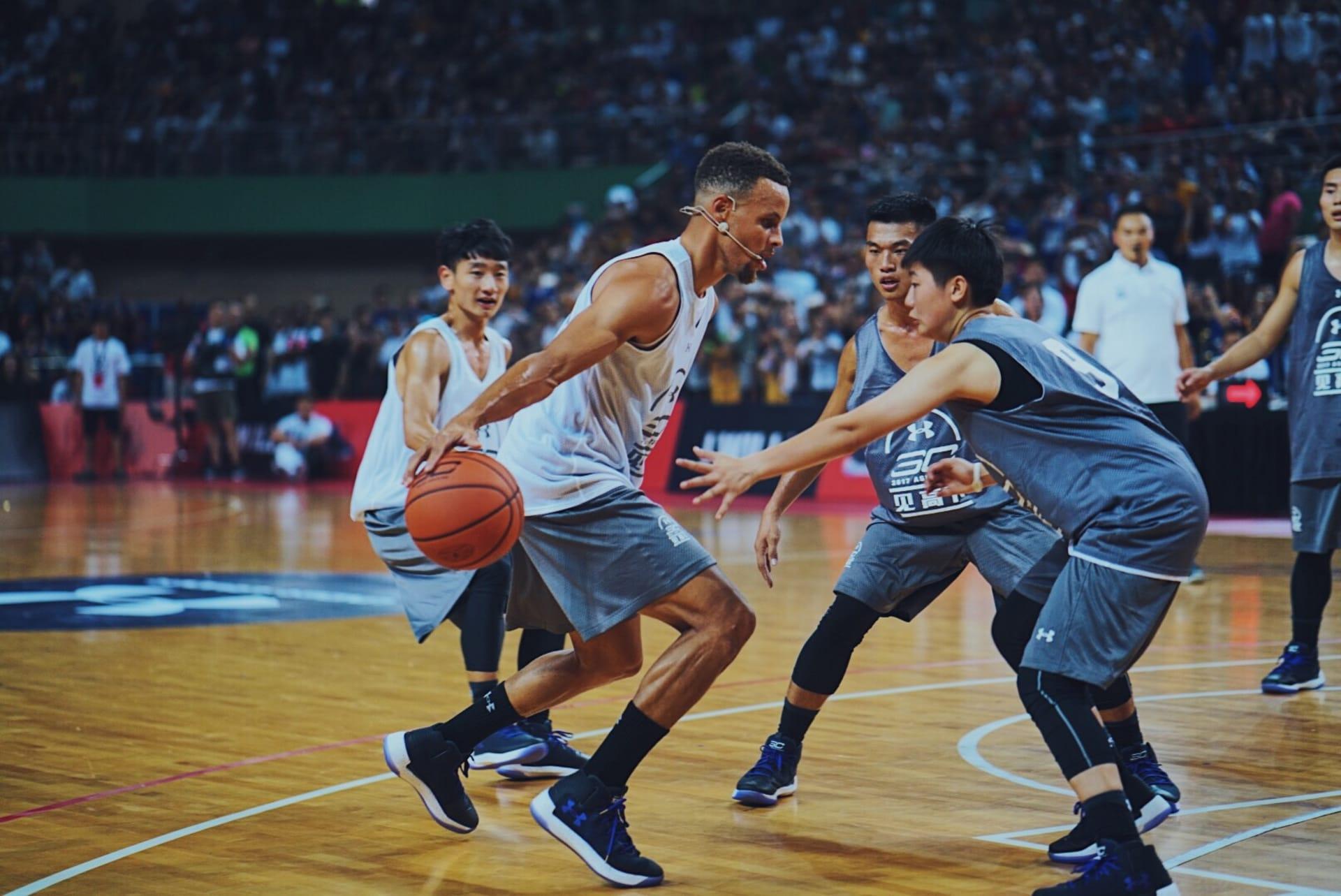 Stephen Curry Playing Basketball China