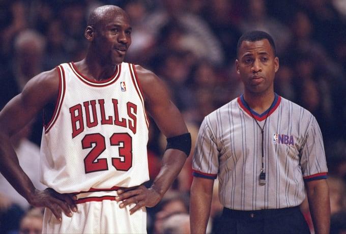 Michael Jordan 1997 Bulls Hawks Getty