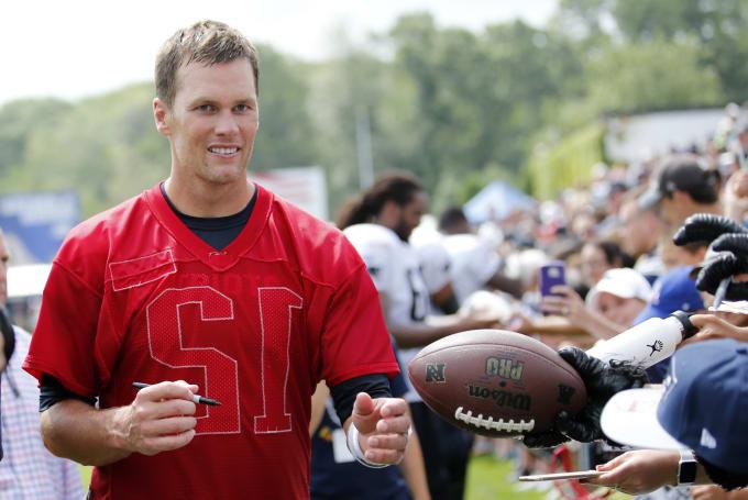 Tom Brady at training camp.