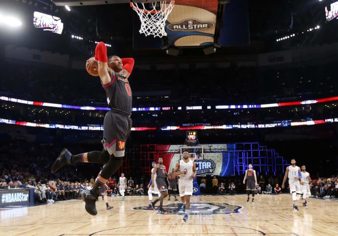 Russell Westbrook 2017 NBA All-Star Game MVP Dunk