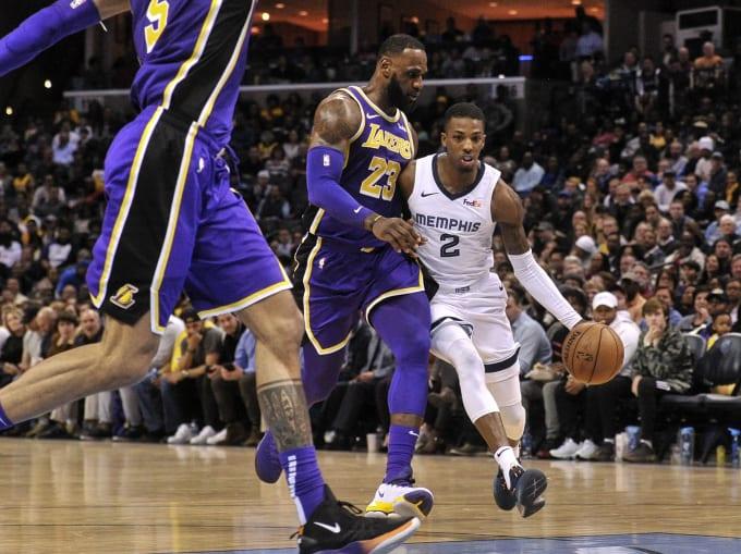 LeBron James Delon Wright Grizzlies Lakers 2019