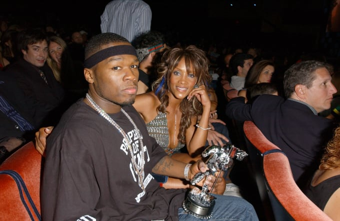 50 Cent and Vivica A. Fox at 2003 MTV Video Music Awards