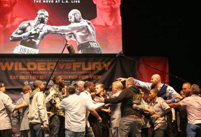 Deontay Wilder Tyson Fury Los Angeles Promotion 2 2018 Getty